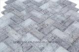 Materiale da costruzione del mosaico di marmo di vetro Herringbone