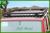 Jeep Wrangler Barra transversal de aluminio equipaje portaequipajes de techo de la puerta 2/4