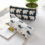 Caixa de lápis de lona moda Pen Zipper Bag Coin Organizer Makeup Costmetic bag bolsa