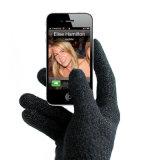 Schermo attivabile al tatto, guanti di Smartphone, telefono il guanto lavorato a maglia guanti (JRAC036)