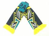OEMによってカスタマイズされるアクリルの編まれたフットボールの頂上のスカーフの製造業者
