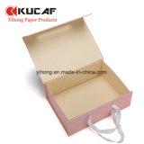 손잡이를 가진 주문 의복 또는 의복 정장 구두 평지 열려있는 포장 상자