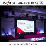 A alta resolução P3.91 LED de aluguer no interior da parede de vídeo