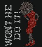 Hotfix Sexy Lady Vermelho menina afro Rhinestone Cristal Design de Transferência