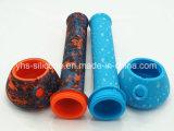 precio de fábrica de Venta caliente 13.5'' de silicona Forma de Vaso de tubo de agua con el tazón de vidrio.