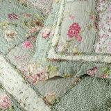 クイーンサイズ100%Cottonパッチワークの花の寝具