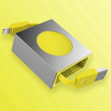 Un cavo di carico veloce Stretchable di 8 Pin del cavo ritrattabile del USB della roccia per il cavo di sincronizzazione di dati del caricatore di iPhone
