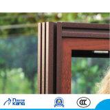 Finestra di alluminio & di legno con lo schermo dell'acciaio inossidabile