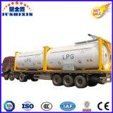 Jsxt 20FT 40FT gás natural líquido/O2/Argon/CO2/gás cloro/Chassi da estrutura de armazenamento do Recipiente do tanque de GNL