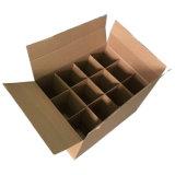 Коричневый Custom большой картонной упаковки вина с делителями