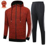 Plaine de gros de vêtements sports zip jusqu'/Pull/Xxxl hoodies costume Stripe Sports voie Custom Hoodies avec fermeture à glissière