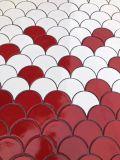 Les chinois rouge et blanc et du secteur de l'échelle de poissons de la forme de mosaïque en porcelaine pour Wall Tile, de la piscine