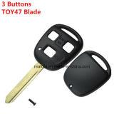 Pour Lexus Remote Shell clé 3 boutons Toy47 Blade