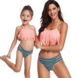 Les enfants et parents de jeunes filles maillot de bain Tassel Plus Size bikini sexy Maillots de bain