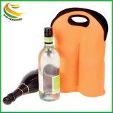 Double Bouteille de vin d'impression du logo sac personnalisé