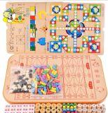Puzzle di legno del gioco da tavolo del Genitore-Bambino di formazione dei bambini del giocattolo di legno in anticipo della scheda multifunzionale