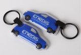 Keyring Logotipo personalizado Plano Promocional Carro lanterna LED de PVC