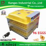 Incubateur automatique d'oeufs de modèle du certificat le plus neuf de la CE pour 96 oeufs de poulet fabriqués en Chine