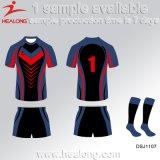 Healong最もよいデザインスポーツ・ウェア3Dの昇華チームラグビージャージー