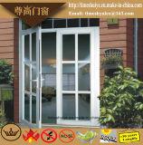 Aluminiumfalz-Tür mit hölzerner Farbe