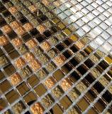 Espelho de mosaico de vidro cristal e corte de vidro Quadrado de ladrilhos, mosaicos de vidro