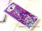 Caisse liquide de téléphone de sable d'étoile de PC dur en gros de nouveau produit de la Chine pour le cas de couverture de téléphone mobile de sable mouvant de Samsung A3/A5/A7