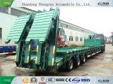 Shengrun 4 de Semi Aanhangwagen Lowbed van de As 60t/80t voor Op zwaar werk berekende Vervoer van de Machine