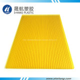 Junta hueco de plástico de policarbonato esmerilado Verde Amarillo