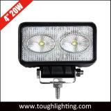 Rectángulo de 4 pulgadas de alta potencia 20W LED CREE las luces de trabajo del tractor