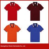 광저우 공장 도매 싼 면 폴리에스테 남자 (P124)를 위한 남녀 공통 폴로 t-셔츠