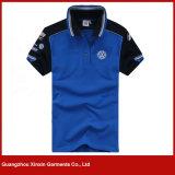 Camisa de polo magro ocasional de T de homens de tecla da listra do fabricante de Guangzhou do ajuste (P167)