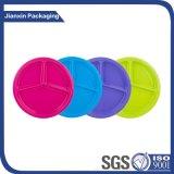 Contenitore di plastica a gettare multicolore del piatto