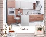 Hölzerne Korn-Melamin-Ende-Laminat Kraftstoffregler-Küche-Möbel (zg-042)