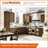 Armários italianos da cozinha da mobília da cozinha da madeira contínua do estilo