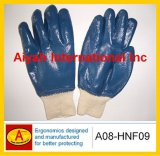 Fleeced Liner Nitrile Work Glove (A08-HNF09)