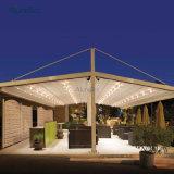 Novo Design Piscina Pergola toldos com luzes LED