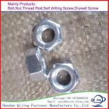Boulon Hex avec la plaque DIN934 de zinc de noix