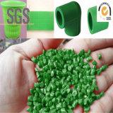 Grado de tubos de extrusión de plástico reciclado los gránulos de color verde los gránulos de PP PE