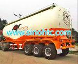 50 Cbm granel cemento Remolque Cisterna, el polvo a granel de entrega del semi-remolque