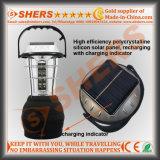 Solar de luz LED 24 SMD LED Dynamo Durante el arranque del enchufe USB