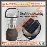 휴대용 태양 60의 LED 태양 강화된 야영 손전등 Handcranking 다이너모