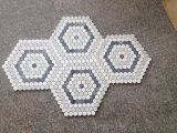 Hexagonal de 25 mm mosaico de mármol