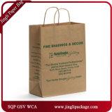 Bolso impreso nuevas compras del papel del diseño de las bolsas de papel de Brown Kraft con insignia