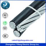 La norme NF Transparent 4 Core Câble avec conducteurs en aluminium