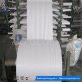 Tissu blanc chaud de tube tissé par pp de la vente 60GSM