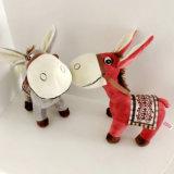 Jouet mou animal réaliste de peluche d'âne de jouets de Stufffed à vendre