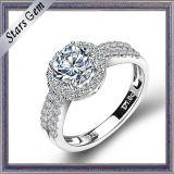 Творческие моды Style белый куб обедненной смеси Steling Серебряное кольцо