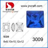 jóia de cristal de pedra extravagante azul de 8*8mm Capri no volume