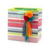Милый бумажный мешок подарка, мешок искусствоа бумажный, лоснистый мешок бумаги с покрытием, бумажный мешок