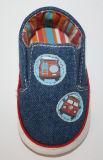 ジーンズファブリック赤ん坊靴の偶然靴Ws17532